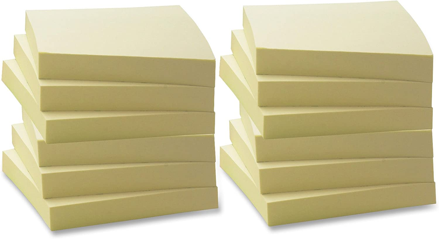 3 x 3 Business Source Yellow Repositionable Adhesive Notes 2 Dozen - 24 Pads 36612