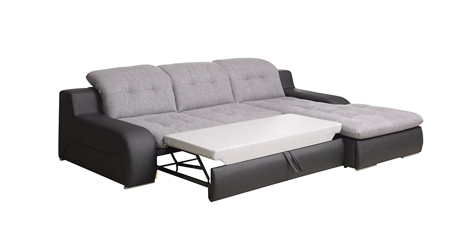 bavaria weiss grau schlaf luxus modern sofa couch l form. Black Bedroom Furniture Sets. Home Design Ideas