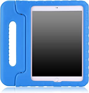 """MoKo Case Fit iPad Air 2 - Kids Shock Proof Convertible Handle Light Weight Super Protective Stand Cover Case Fit iPad Air 2 9.7"""" 2014 Released Tablet (Not fit iPad Air 2013 Released), Blue"""