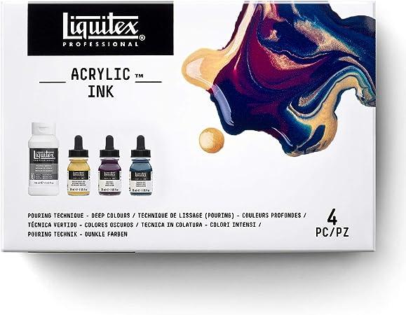 Liquitex Ink Pack de 4 tintas acrílicas extrafinas, 19.4 x 13 x 5 cm: Amazon.es: Hogar