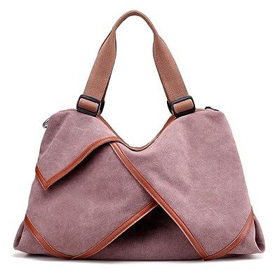 01373512009 LOSMILE Women s handbag Canvas Shoulder Bag Large Hobo Tote Bags Ladies Top-Handle  Casual Beach