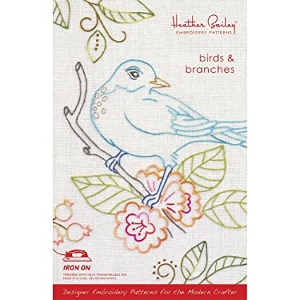 Amazon Birds Branches Embroidery Pattern