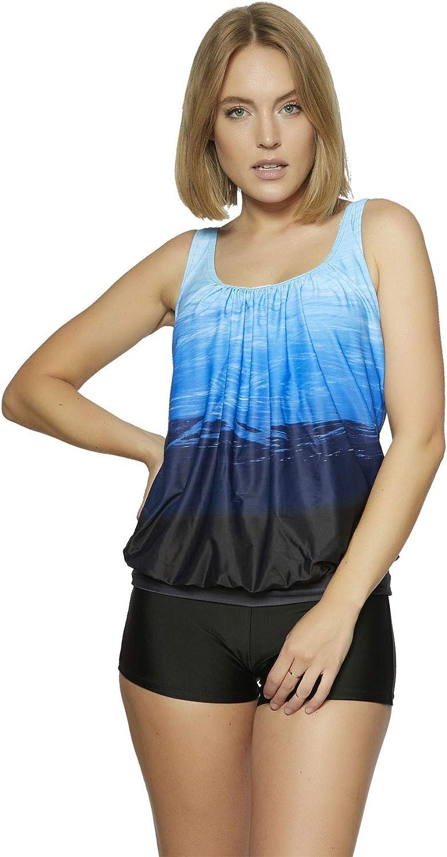 Raffinierte Bademode im Oversize Look Tankini Styles Gr 36-62 f5515