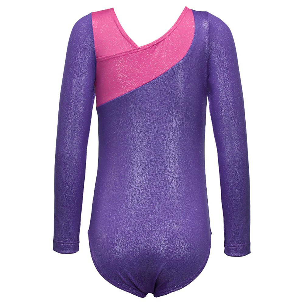 607d256db Long Sleeves Rainbow Stripes Starry Sky Dancing Athletic Leotard for ...