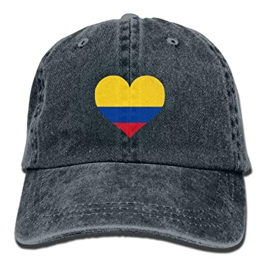 Holefg3b Vintage Cap Hat Colombia Flag Love Heart Polo Sport Denim ...
