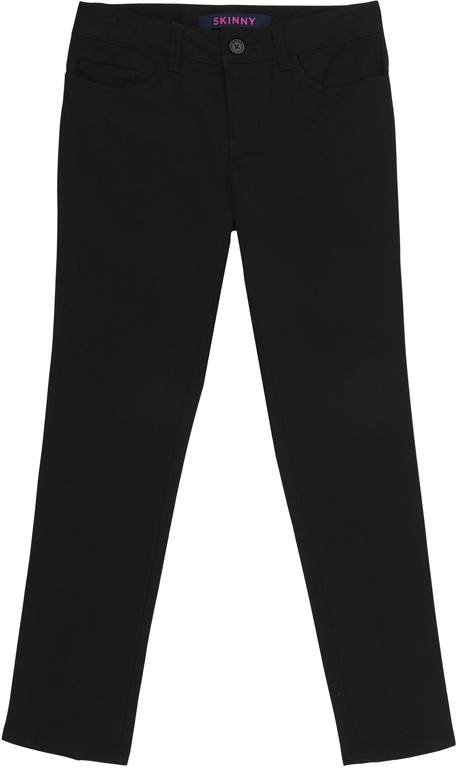 French Toast School Uniform Girls Skinny FIT 5-Pocket Pants, Black, 4T by French Toast