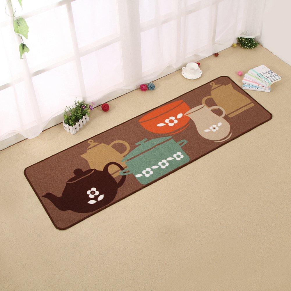 Carvapet 2 Piece Non-Slip Kitchen Mat Rubber Backing Doormat Runner Rug Set, Pots (19''x59''+19''x31'') by Carvapet (Image #3)