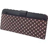 INDEN-YA 印傳屋 印伝 財布 長財布 薄型 レディース 女性用 黒×ピンク 花格子 2107-51-162