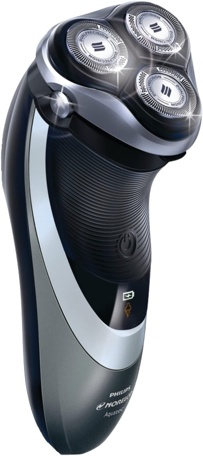 Philips Norelco Cord Cordless Powertouch Aquatec Electric Razor, Fully Washable Design, LED Battery Charge Indicator, Super Lift and Cut, Pop-Up Trimmer, Includes Protective Cap, Power Cord, Cleaning Brush and Manual