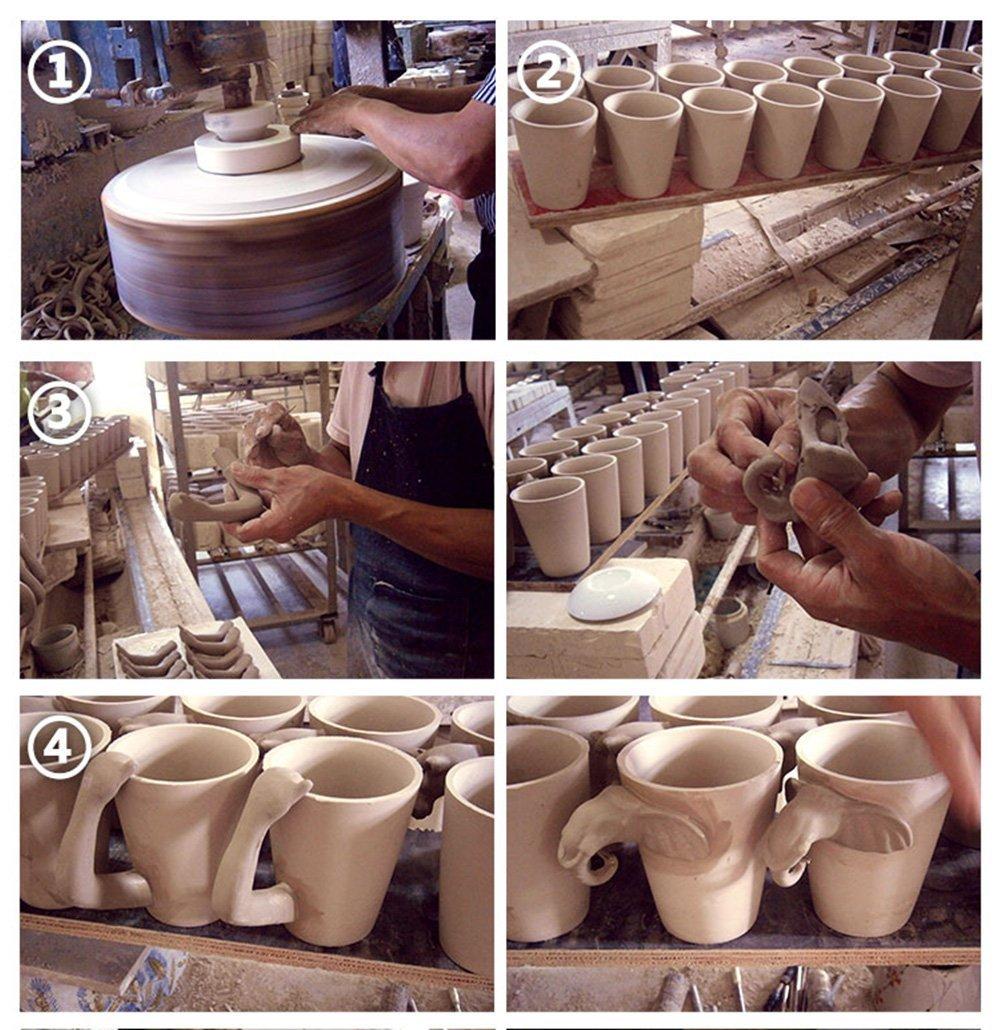 3D Hand-painted Ceramic Coffee Mugs,Cups-NEWCOM (Beagle) N-MUG