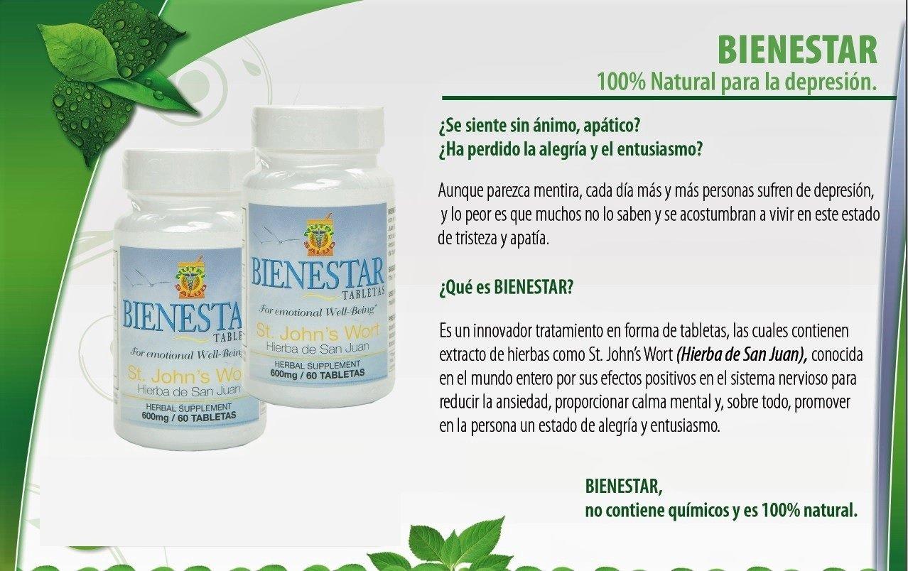 Amazon.com: Tratamiento natural para la depresion y tristeza. Contiene hierba de San Juan, St. Johns Wort, para aliviar depresion, ansiedad y tristeza.
