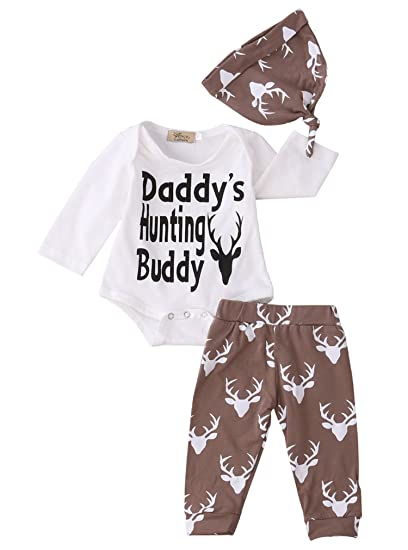 abcefa68423 Newborn Baby Boys Funny Bodysuits with Leggings and Hat 3pcs outfit Clothes  (0-3M
