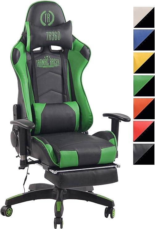 Racing Bürostuhl Turbo mit Fußablage Drehstuhl Schreibtischstuhl schwarz//grün
