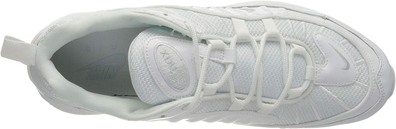 Nike Air Max 98, Chaussures D'athlétisme Homme Multicolore White Pure Platinum Black Reflect Silver 000