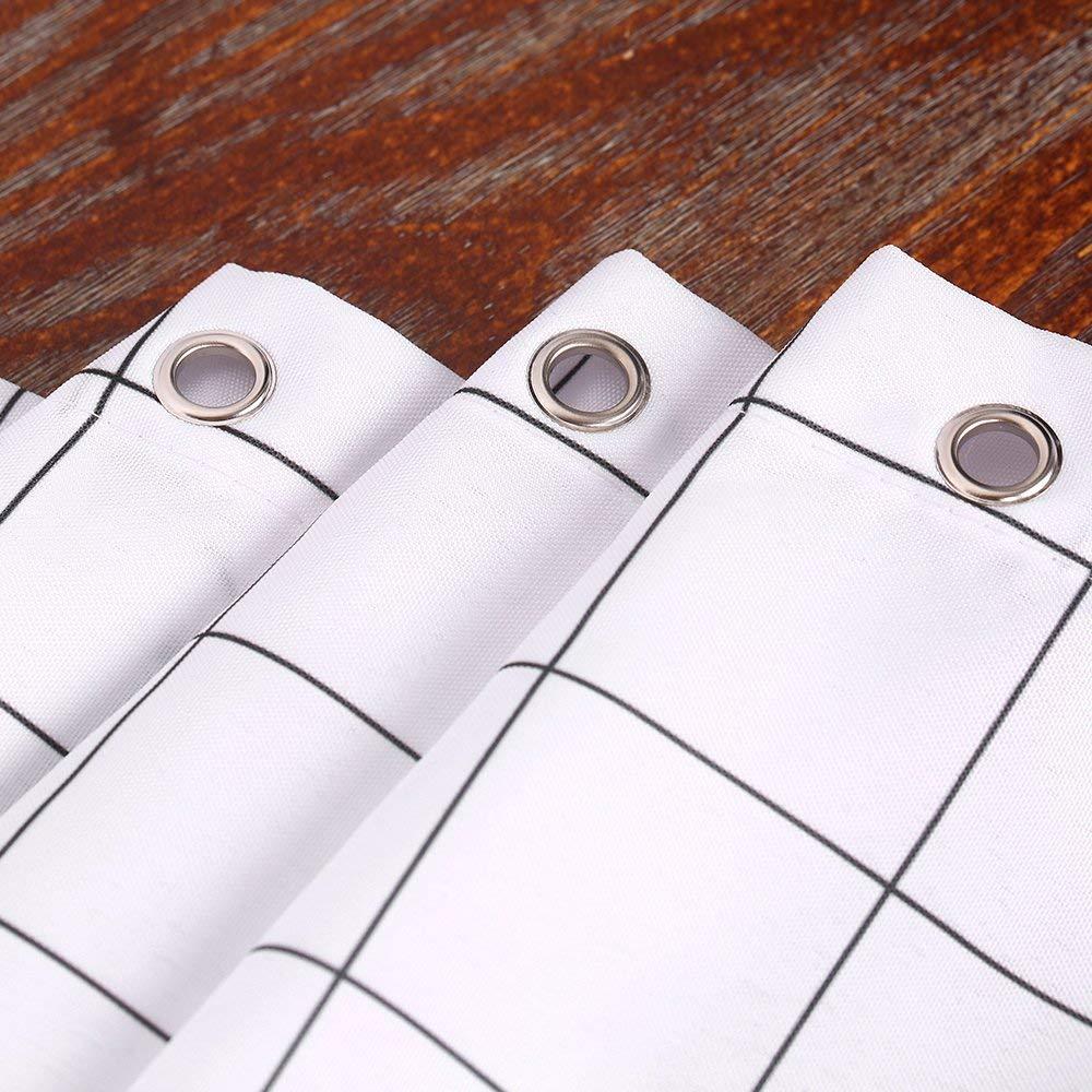 Cortina de Ba/ño Ducha con 12 Ganchos Decorativos de Htovila 100/% Poli/éster Protecci/ón de Privacidad Impermeable a Prueba de Moho Antibacteria