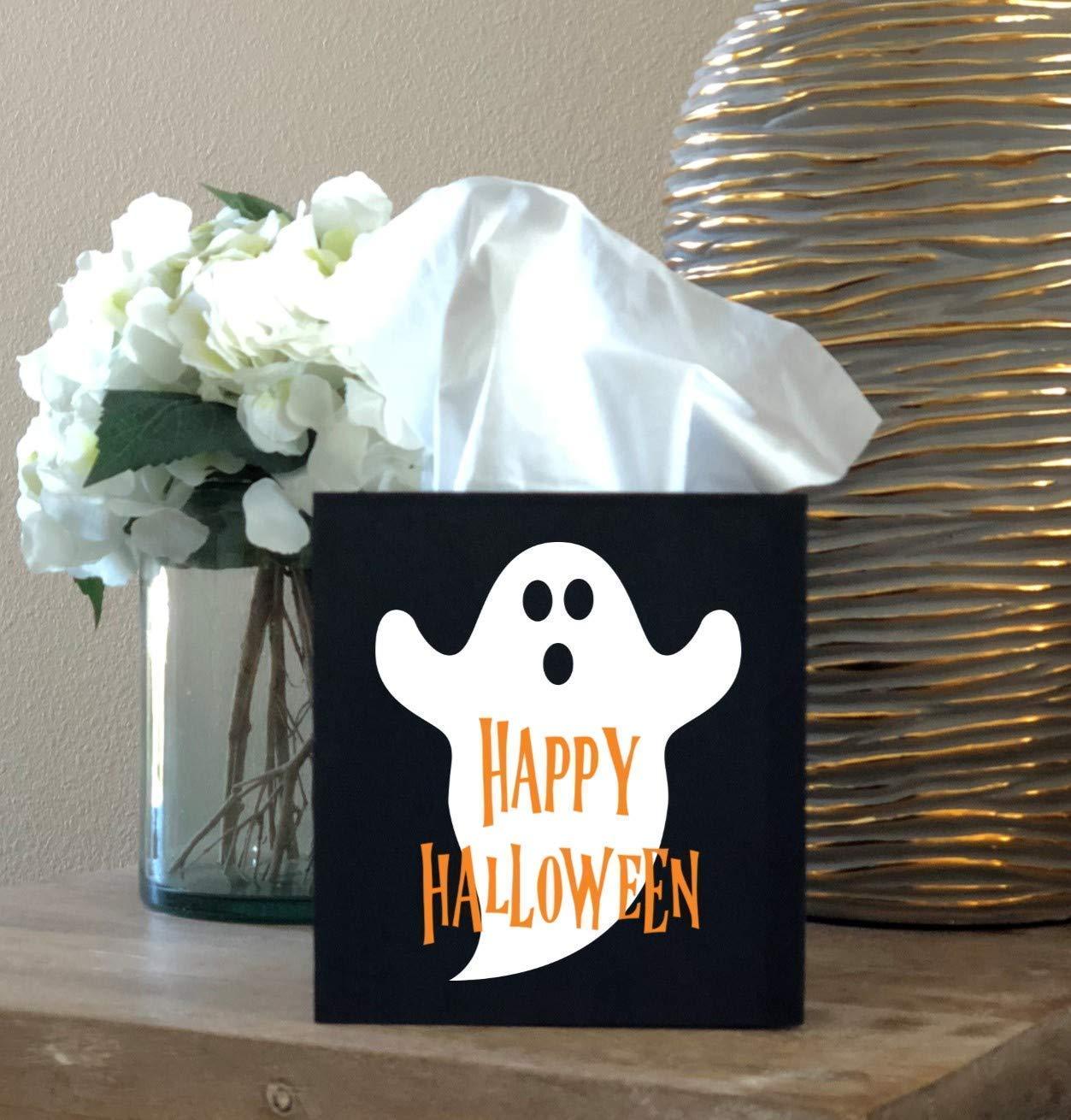 Happy Halloween Ghost Tissue Box
