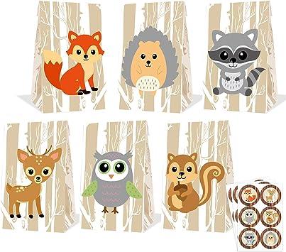 sweets bag Woodland Birthday Woodland Favor Bag woodland candy bag Woodland Favor treat bag Woodland gift bag printable favor bag