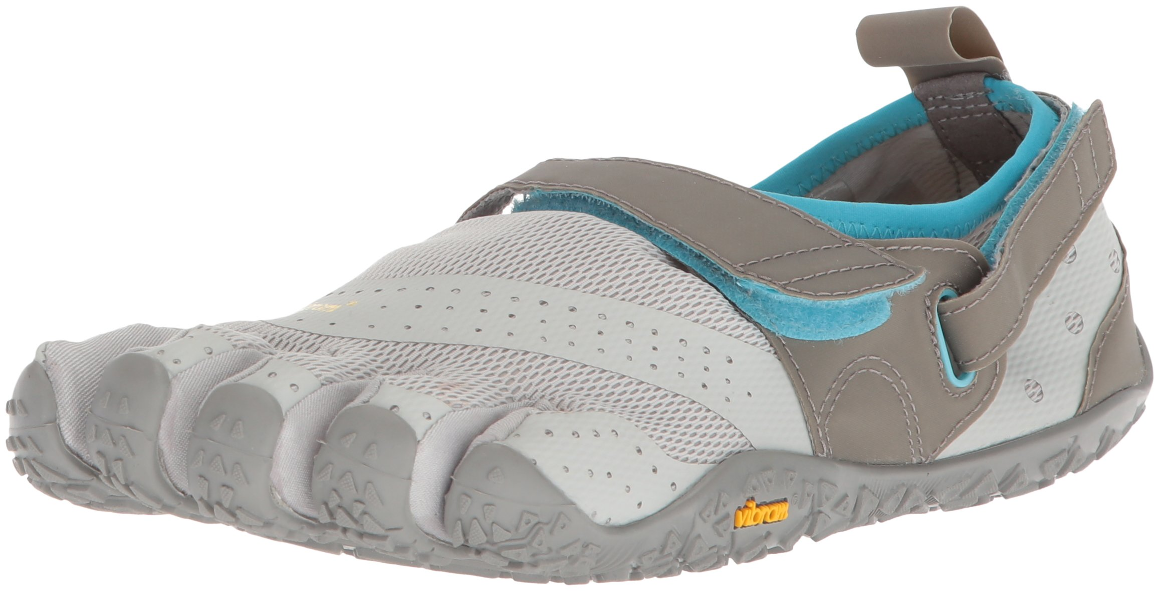 Vibram Women's V-Aqua Water Shoe, Grey/Blue, 42 EU/9-9.5 M US B EU (42 EU/9-9.5 US US)