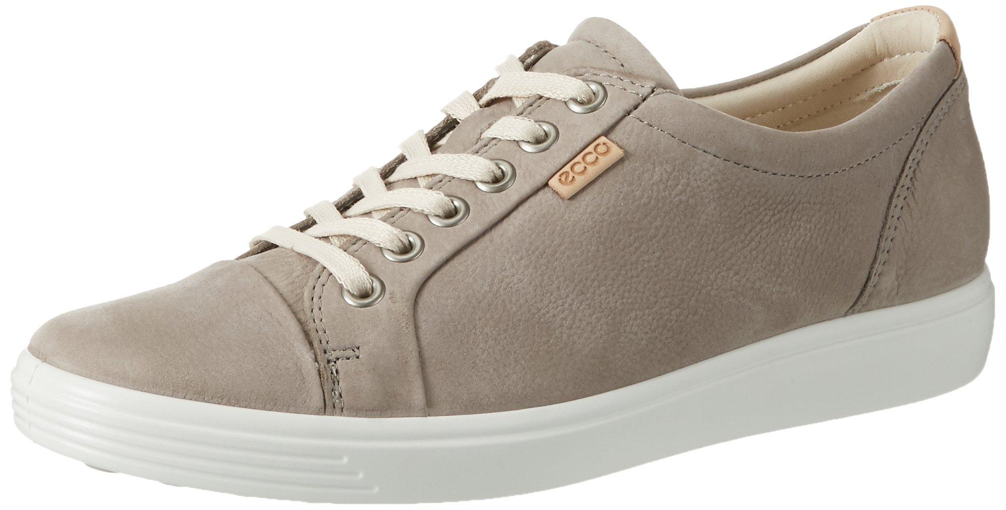ECCO Women's Women's Soft 7 Fashion Sneaker, Warm Grey, 41 EU/10-10.5 US