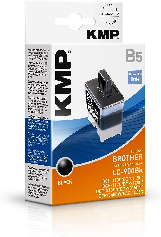 KMP B5 - Cartucho de Tinta Brother LC900BK, Color Negro