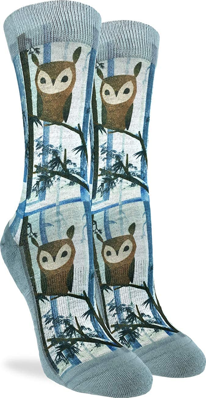 Good Luck Sock Women's Owl Socks - Blue, Adult Shoe Size 5-9 5101