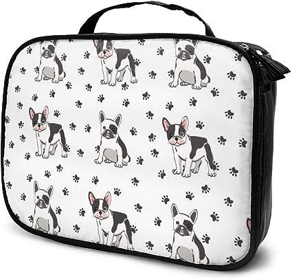 Bolsas de cosméticos para viajes de mujeres, lindo estuche para bulldog francés: Amazon.es: Belleza