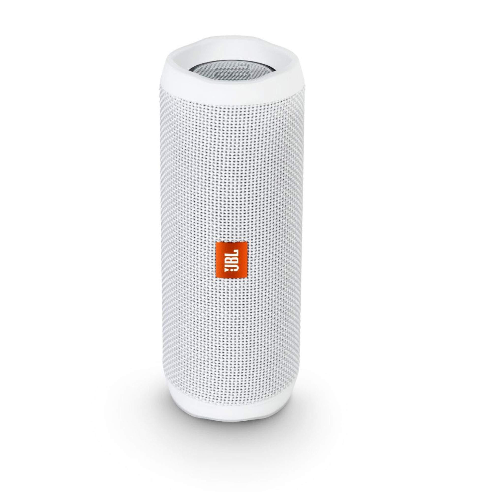 JBL Flip 4 Waterproof Portable Bluetooth Speaker - White by JBL