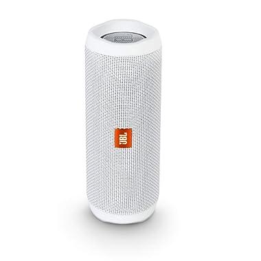 JBL Flip 4 Waterproof Portable Bluetooth Speaker - White