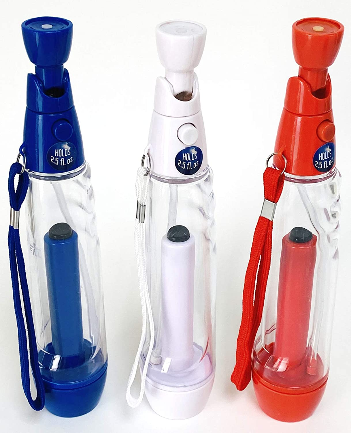 3 Water Mister Sprayer - Patriotic USA colors Red White & Blue - Continuous Fine Mist Face Cooling Pump Sprayer - Summer Camping Patio Hiking BBQ Picnic Baseball & Outdoor Games & Activities Beach Travel