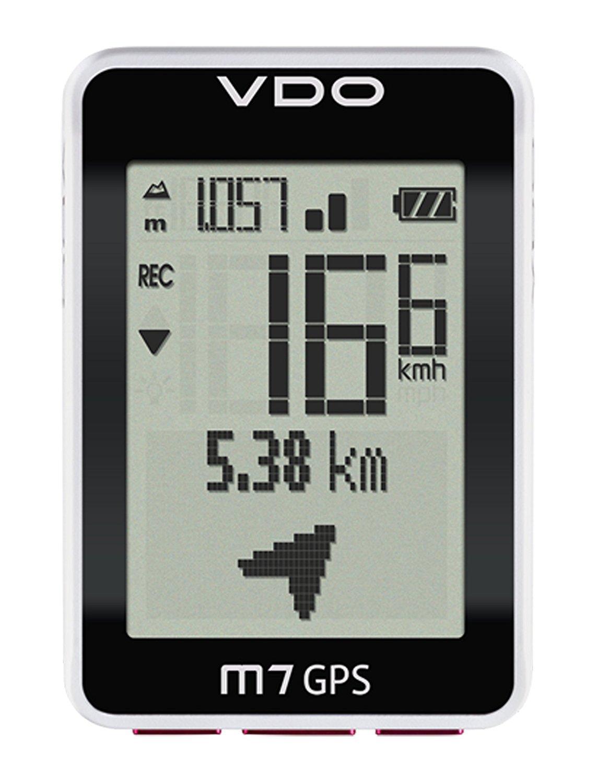 VDO Cyclecomputing M7 GPS Wireless Bicycle Computer Negro, Color Blanco - Ordenador para Bicicletas (46 x 32 mm, 45 mm, 18 mm, 66 mm, 42 g): Amazon.es: ...
