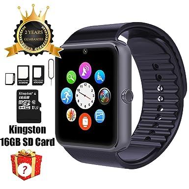 Reloj inteligente GT08 con Bluetooth, tarjeta SD de 16GB, ranura para tarjeta