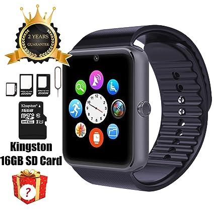SMART Watch Gt08 Bluetooth avec 16 Go carte SD et emplacement pour carte SIM pour Android