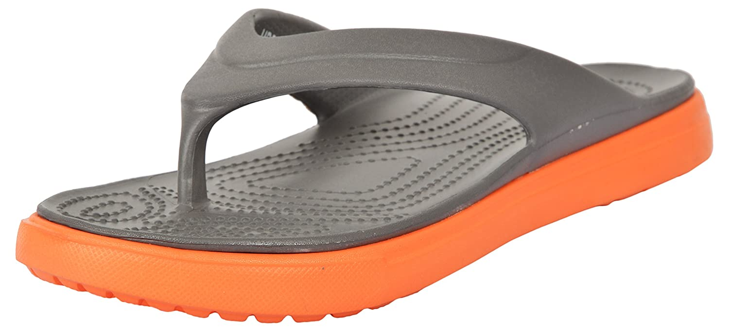 9ddbb8f809ae Bonkerz Men s Grey and Orange Flip-Flops - 10 UK  Buy Online at Low Prices  in India - Amazon.in
