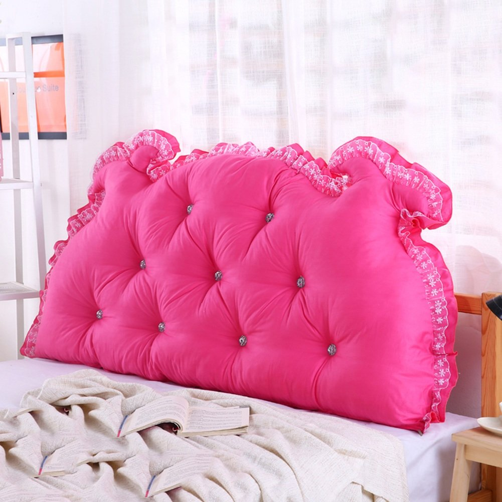 A 135 × 15 × 70cm RFJJAL Headboard Bedside Cushion Pads Washable Cotton Cover Soft Case Lumbar Pillow,Multifunction Large Back Waistguard Neck Guard Highly Flexible, 6 colors, 6 Sizes