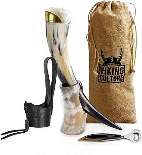 Medieval Inspired Drinking Mug Collectible Details about  /Viking Drinking Horn With Stand