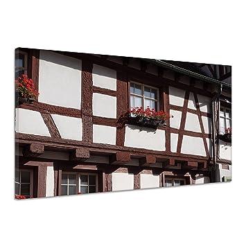 Amazon De Blumenkasten Haus Fassade Holz Pflanze Rot