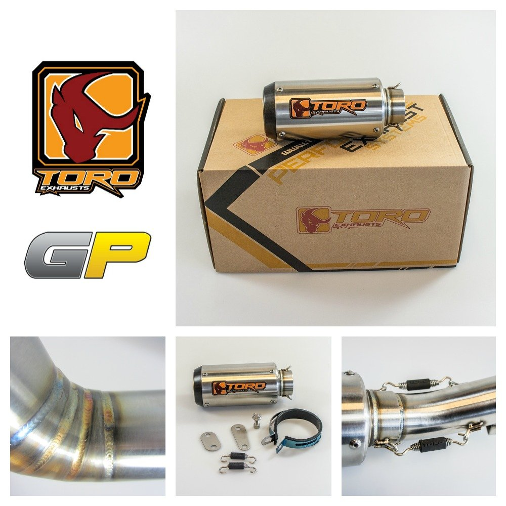 Toro Exhausts T1-GP-0204-YAM-02 T1 GP Brushed Motorcycle Exhaust Kit Yamaha YZF-R6 2003-2005, Stainless/Carbon China