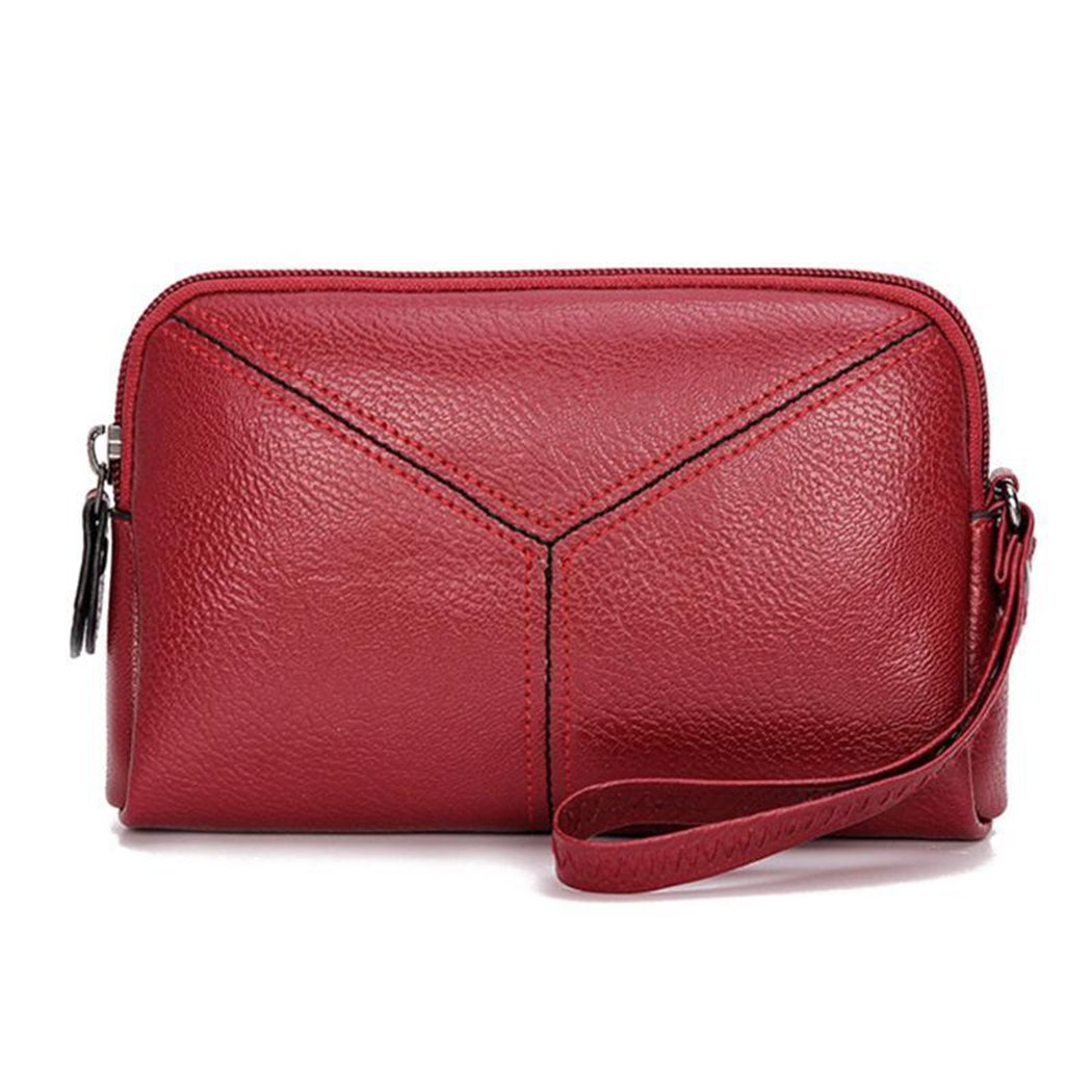 78f4aa61f1d Multifunctional PU Leather Women's Wrislet Clutch Mini Hand Purse ...