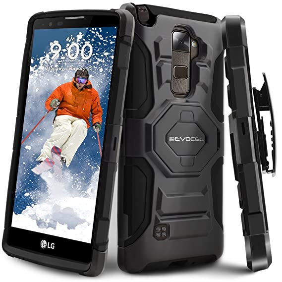 separation shoes 664b7 8c674 LG Stylo 2 Plus Case, Evocel [New Generation Series] Belt Clip Holster,  Kickstand, Dual Layer for LG G Stylo 2 Plus (MS550), Black  (EVO-LGMS550-XX01)