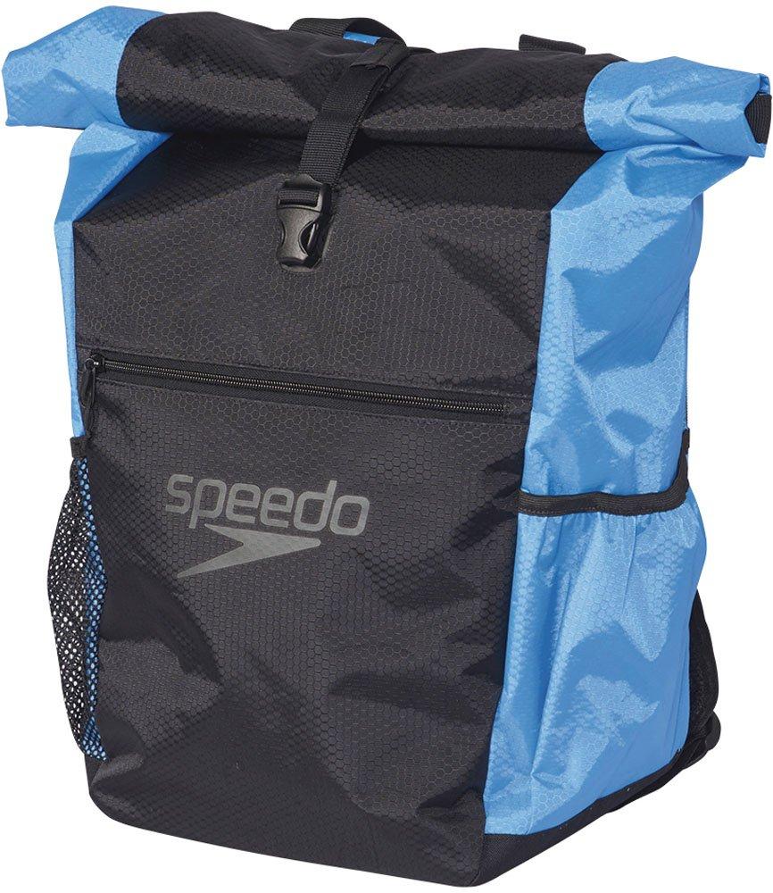Speedo(スピード) プールバッグ ロールトップバッグ SD96B51 40L B01HU5KBPG ブラック×ブルー(KB) ブラック×ブルー(KB)