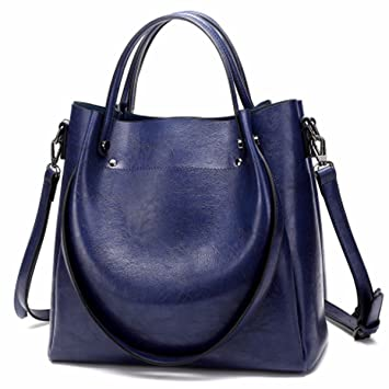 GTVERNH-Bolsos Maletas Mochila Bolsas De Moda Simple Solo Hombro Bolso,Azul