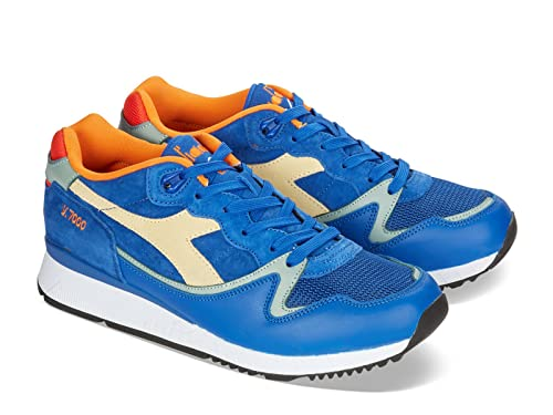 Diadora Men s Sneakers In Azure Leather and Fabric - Model Number ... f583e080b5f