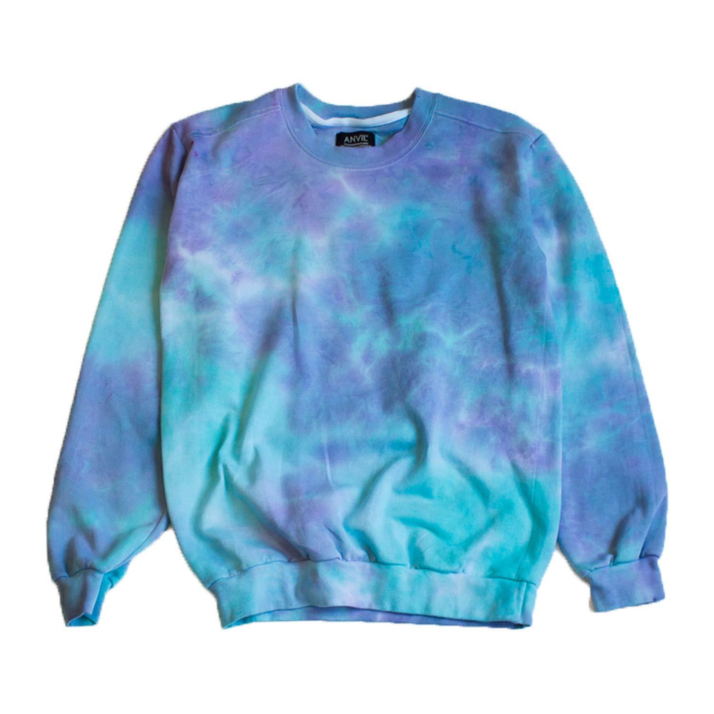 Unicorn Goth Tie Dye Sweatshirt Unisex by Masha Apparel