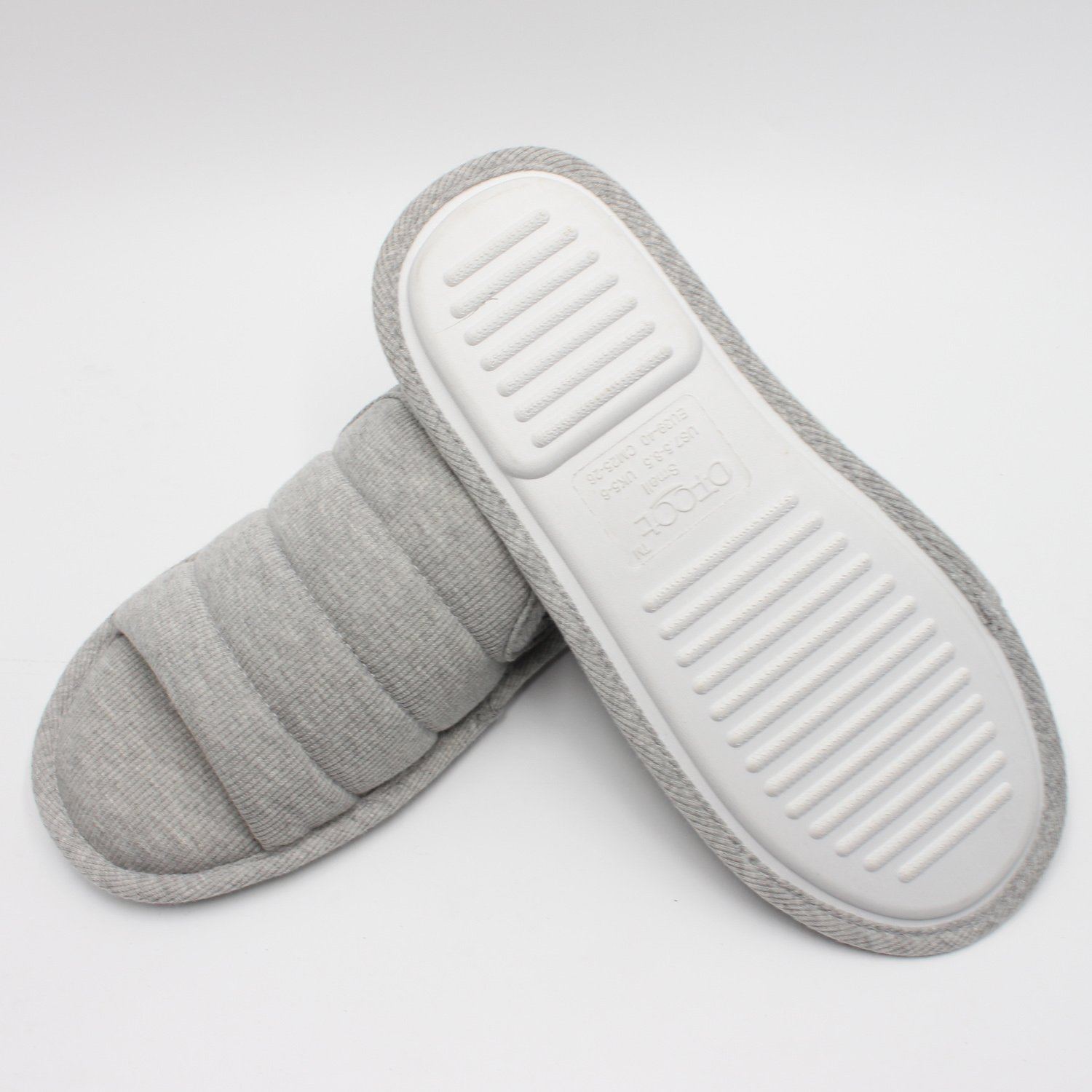 Ofoot Men's Cozy Thread Cloth Open Toe House Slippers, Indoor / Outdoor Slip on Shoes by Ofoot (Image #2)