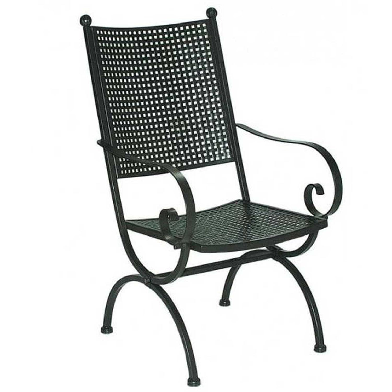 Gartenmoebel MBM Gartensessel Romeo Elegance Schmiedeeisen Marone-antik Gartenstuhl Sessel