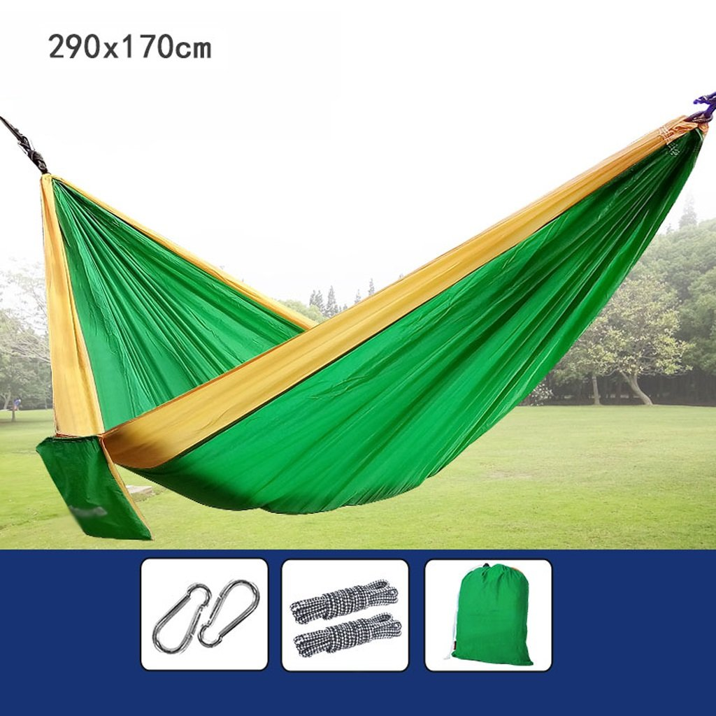 Hängematten Wddwarmhome Outdoor Fold Multifunktions Parachute Tuch Park Casual Hängesessel Tragbare Camping Ausrüstung (290  170 cm) (Farbe : B)