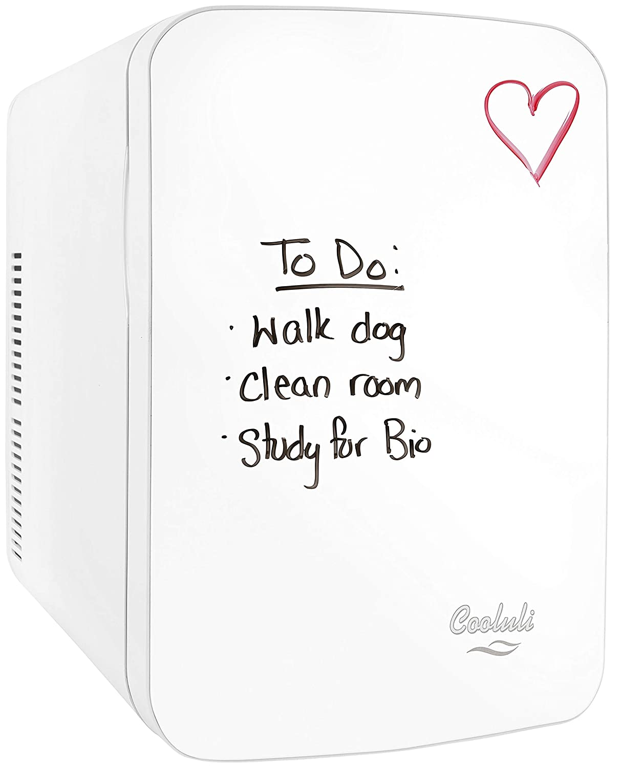 Cooluli Vibe-15-liter Cooler/Warmer Mini Fridge with Dry-Erase Board for Dorms, Offices, Homes & Cars