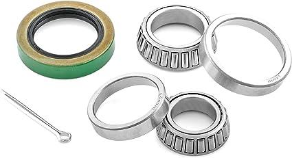 Bearings Seal /& Cotter Pin Races 1-1//4 Inch Boat Trailer Wheel Bearing Kit