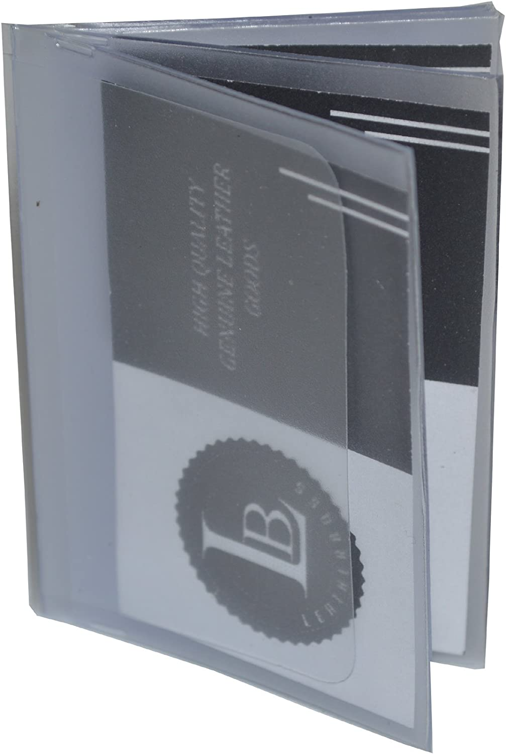 Mens Bifold Six Page Wallet Insert 2.5 X 3.5 Clear Set of 2