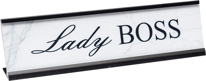 Lady Boss Novelty Desk Plate